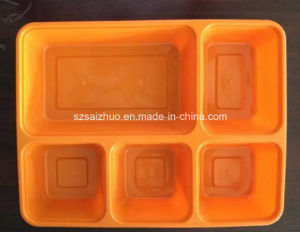5 Compartment Lunch Box Disposable Plastic Food Container pictures & photos