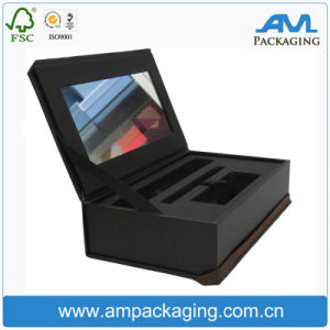 Custom Cosmetic Cardboard Box Clamshell Shaped False Eyelash Packaging with Mirror pictures & photos