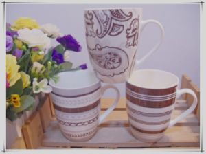 Sample China Flower Ceramic Mugs for Milk Cup pictures & photos