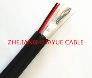 Outdoor FTP Cat5e +Power Cable +Steel Wire /Communication Cable pictures & photos