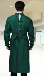 Dark Green Surgical Gown Quality Fabric Customized Available pictures & photos