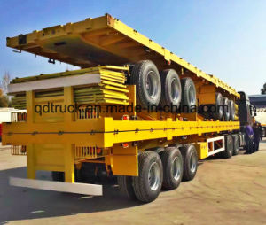 Poor road condition? CIMC strong flatbed trailer pictures & photos