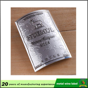 Embossed Metal Tag/Metal Bottle Label pictures & photos