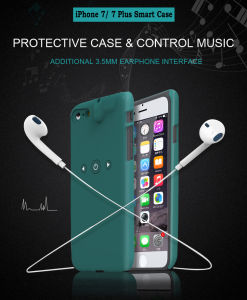 Mobile Phone Smart Protective Case with 3.5mm Earphone Jack and Lightning Charge Interface for iPhone 7/ iPhone 7 Plus Phone Shell