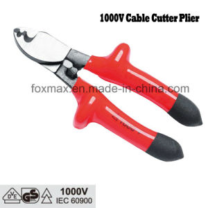 VDE 1000V Cable Cutter Plier with Dipped Handle pictures & photos