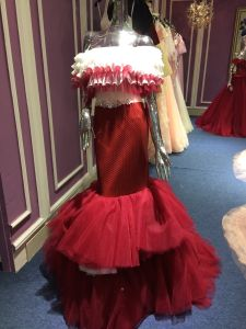 Mermaid Trumpet Skirt Red Long Wedding Evening Dress pictures & photos