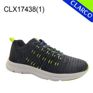 Flyknit Mesh Sports Running Sneaker Shoes with Rubber Sole pictures & photos