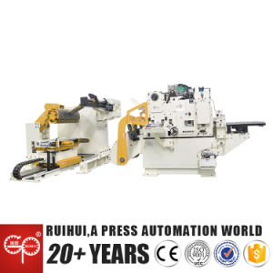Nc Servo Coil Straightening Roll Feeder Machine with Uncoiler (MAC4-1000H) pictures & photos