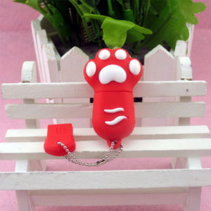 Customized Paw PVC USB Flash Drive Bespoke Shape pictures & photos