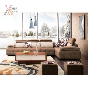 Fashion Modern Fabric Sofa with Adjustable Headrest (972A) pictures & photos