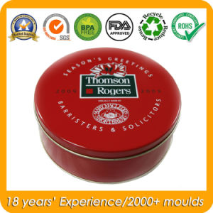 Round Custom Tin Metal Canisters for Gift Tin Can Packaging pictures & photos