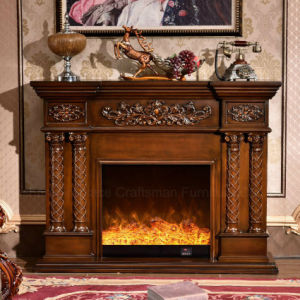 MDF Sculpture Home Furniture European Style Electric Fireplace (320S) pictures & photos
