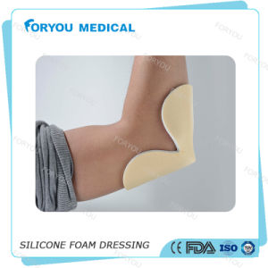 Diabetic Leg Wounds Foam Heel Wound Dressing Silver Silicone Foam Dressing pictures & photos