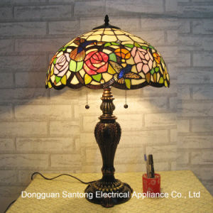 Tiffany Table Lamp for Home Decoration From Stained Glass Table Lamp Factory for Wholesale pictures & photos
