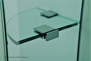 Hr-025 Hinge Shower Screen with Glass Shelf pictures & photos