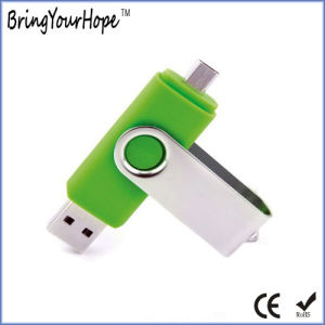 Green Color OTG USB Flash Drive (XH-USB-001OTG) pictures & photos