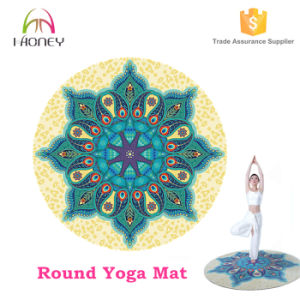 Round Yoga Mat Mandala Design with Carry Bag pictures & photos