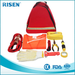 Car First Aid Kit with Triangle Roadside Car Repair First Aid Kit for Travel Sports Outdoor pictures & photos