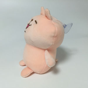 Light Pink Rabbit Stuffed Foam Beads Plush Keychain with Sucker pictures & photos