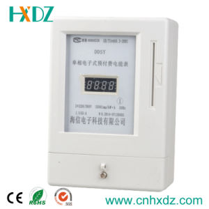 Single Phase Digital Type Prepaid Electricity Watt-Hour Meter Ddsy pictures & photos
