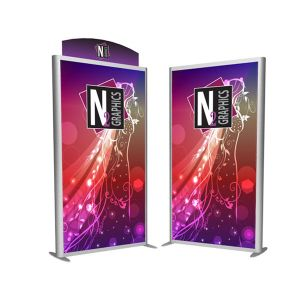 Exhibit Design Search Advertising Banner Wall Display Double Sides Light Box pictures & photos