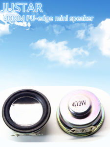 40mm PU Mini Speaker 4-8ohm 1-3W pictures & photos