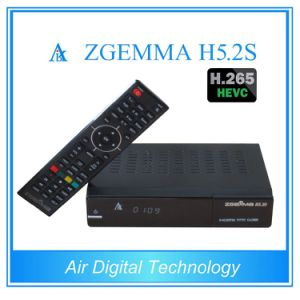 Hevc/H. 265 Satellite&Decoder Zgemma H5.2s Dual Core Linux OS Enigma2 DVB-S2+S2 Twin Tuners HDTV Box pictures & photos