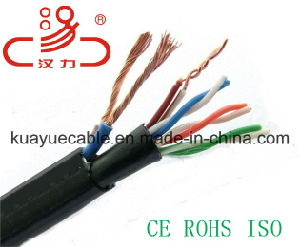 Power Cable+4pair Utpcat5e/Computer Cable/ Data Cable/ Communication Cable/ Connector pictures & photos