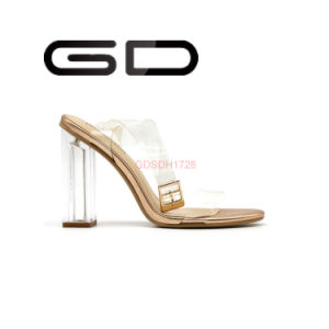 Gdshoe Patent Leather Fashion Transparent Sandals pictures & photos