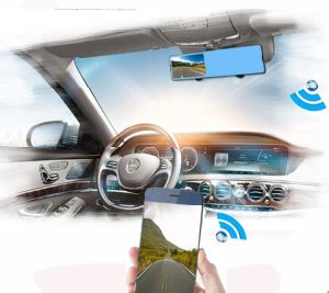 WiFi Reversing View DVR Dual Lens HD 1080P Dash Camera Car Rearview Mirror DVR168p pictures & photos