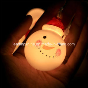 Snowman Christmas LED String Lights with Timer Control 20 Micro LED Outdoor for Garden pictures & photos