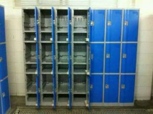 Waterproof Locker for Bathroom with 3 Doors pictures & photos