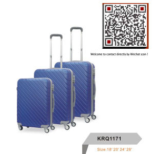 ABS Plastic Waterproof Travel Trolley Luggage Suitcase pictures & photos