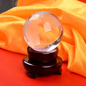 Crystal Glass World Ball Earth Globe for Home Decoration pictures & photos