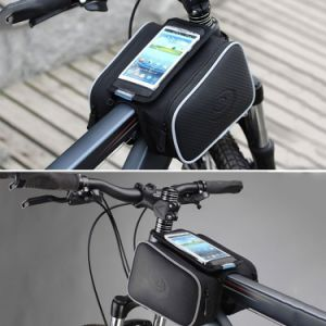 Cycling Frame Pannier Cell Phone Bag, Bike Front Top Tube Touchscreen Saddle Bag pictures & photos