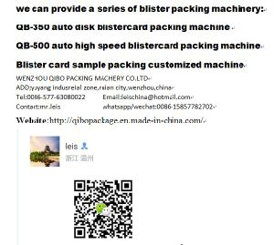 Qibo Brand PVC Blister Papecard Packing Machine with New Design and Disk Table pictures & photos