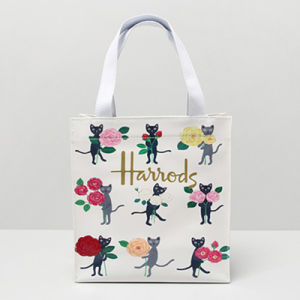 Small Size Cute Cats Pattern PVC Shopping Bag (H008-12)
