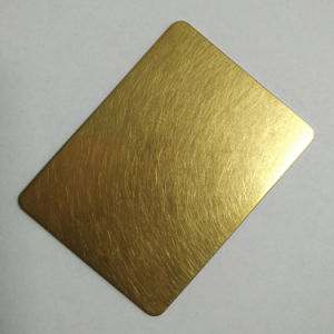 Steel Products Hairline Gold Color Stainless Steel Sheet for Decoration pictures & photos