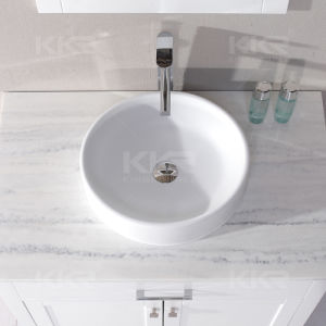 Artificial Stone Solid Surface Double Bathroom Sink pictures & photos