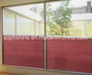 Double Hollow Glass with Internal Cellular Shades Honeycomb Blinds Motorzied pictures & photos