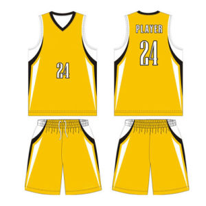 Dye Sublimation Basketball Team Jersey Uniform T Shirt for Club pictures & photos