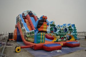 Funny Inflatable Water or Dry Slide, Tri Jezdci (three knights) Slide, Large Amusement Park Inflatable Water Slide pictures & photos