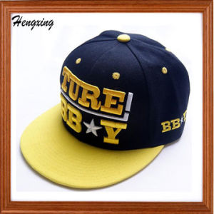 Raised 3D Embroidery Snapback Cap with Embossed Buckle pictures & photos