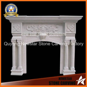 Marble Mantel Stone Fireplace Surround Limestone Fireplace pictures & photos