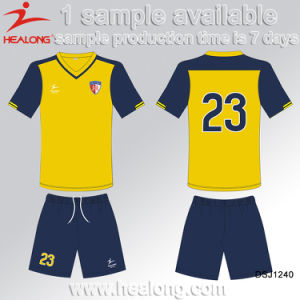 Healong Top Sale Customized Sportswear Sublimation Quick Dry Football Jersey pictures & photos
