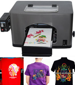 Black T-Shirt Printer with White Ink, A2 Size High Resolution and Strong Adhesive /T-Shirt Printer A3/ Textile Printer/Digital Printer pictures & photos