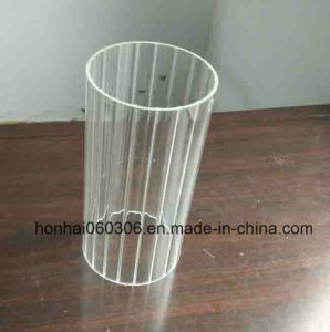 Clear and Frosted Glass Cylinder Candle Holder pictures & photos