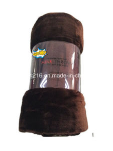 High Quality Mink Blanket Sr-B170224-8 100% Polyester Solid Mink Blanket Solid Raschel Blanket pictures & photos