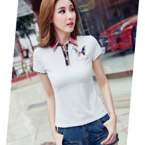Wholesal Fashion Short Sleeve Customize Polo Shirt 100% Cotton Ladies pictures & photos