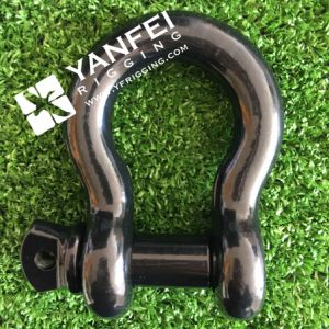Black Painted Us Type Bow Shackle with Screw Pin pictures & photos